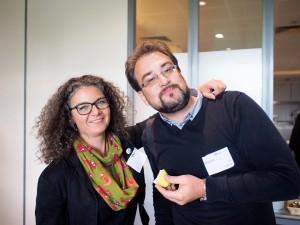 Dennis Knake und Brigitte Glatzel beim Barcamp Köln 2014 (Foto: Markus Sommer)